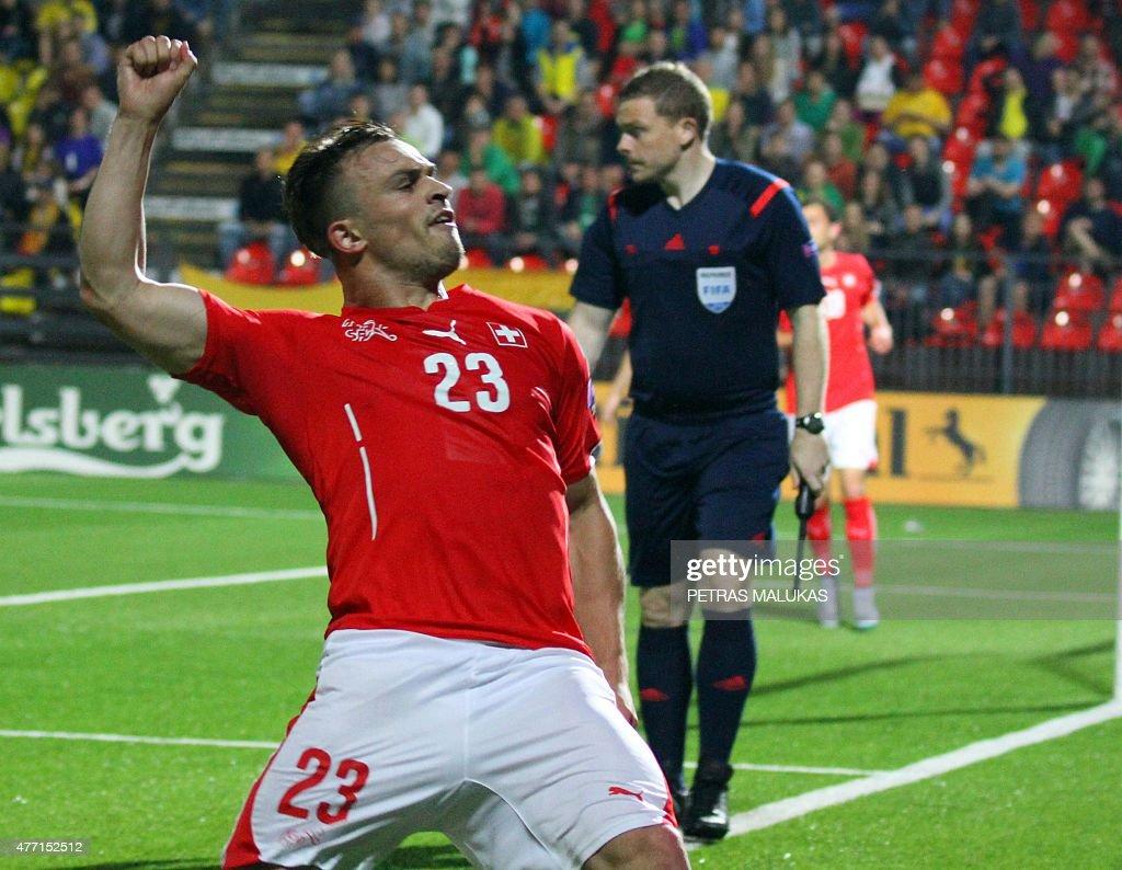 FBL-EURO-2016-LTU-SUI : News Photo