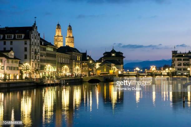 Switzerland Zurich Grossmunster Limmatquai