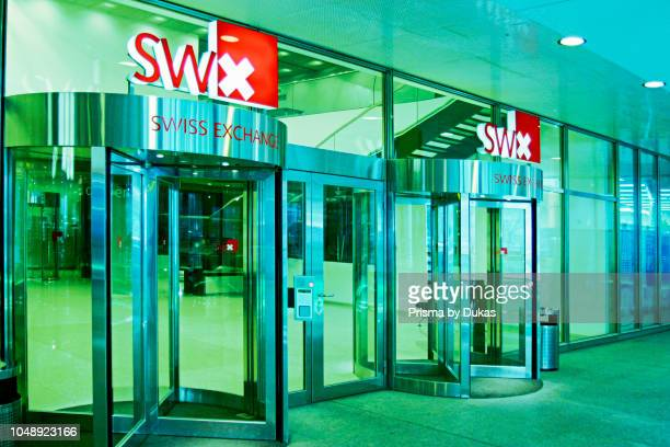 Switzerland Zurich stock exchange entrancerevolving door