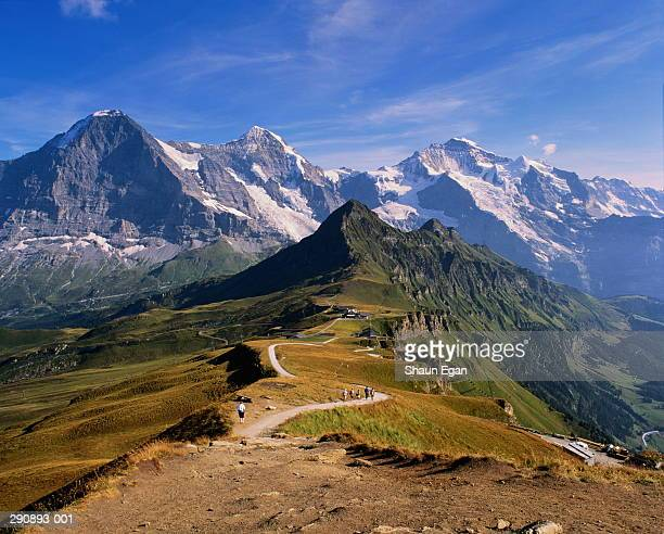 Switzerland,Berne,Mannlichen,Eiger mountains,Monch and Jungfrau peaks