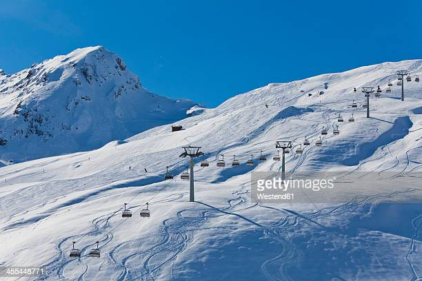 switzerland,carmenna, view of ski chair lift - ski lift stock pictures, royalty-free photos & images