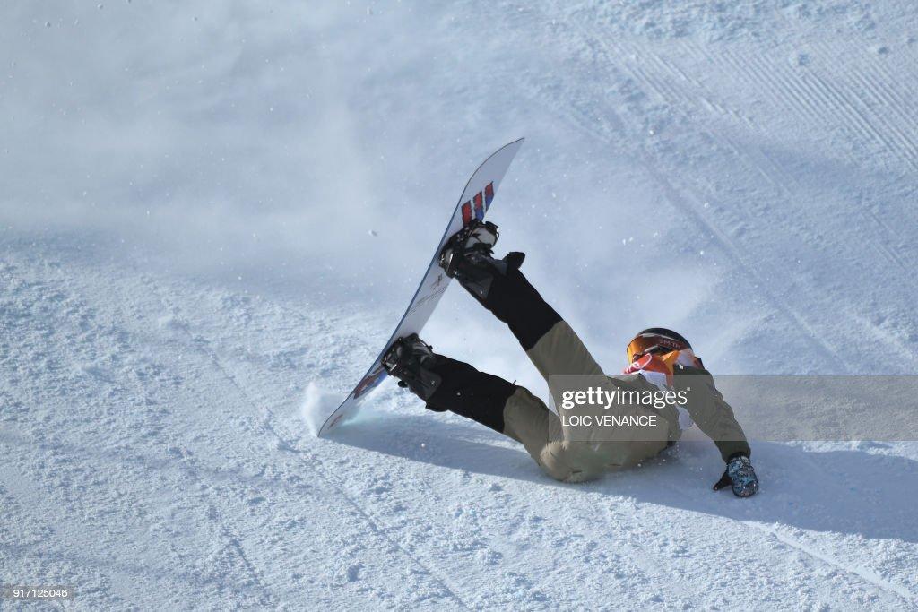 TOPSHOT-SNOWBOARD-OLY-2018-PYEONGCHANG : News Photo
