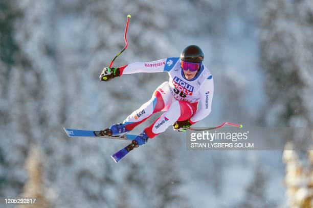 Switzerland's Cedric Ochsner competes during a training session for the Men´s Downhill event of the FIS Alpine Skiing World Cup in Kvitfjell Norway...