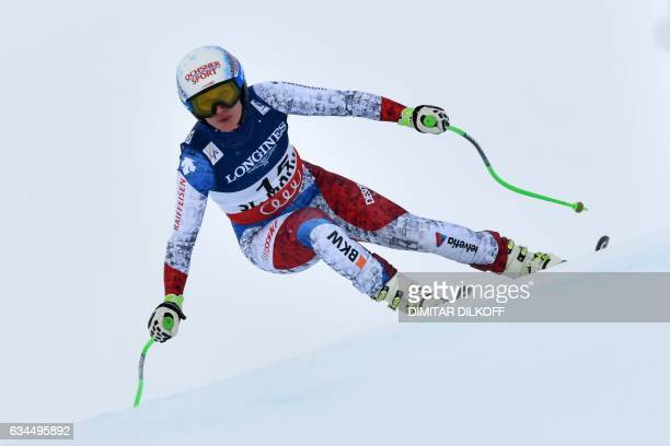 Switzerland's Denise Feierabend competes in the downhill race of the women's Alpine Combined event at the 2017 FIS Alpine World Ski Championships in...