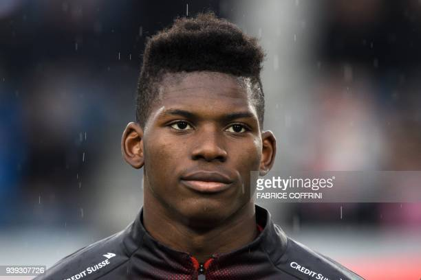 Switzerland's forward Breel Embolo looks on prior to the international friendly football match between Switzerland and Panama in Lucerne on March 27...