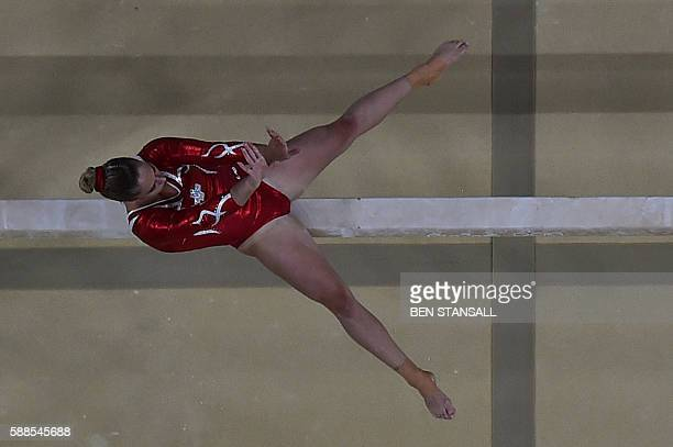 Switzerland's Giulia Steingruber competes in the beam event of the women's individual allaround final of the Artistic Gymnastics at the Olympic Arena...
