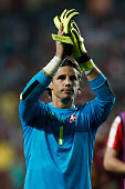 switzerlands goalkeeper yann sommer applauds supporters