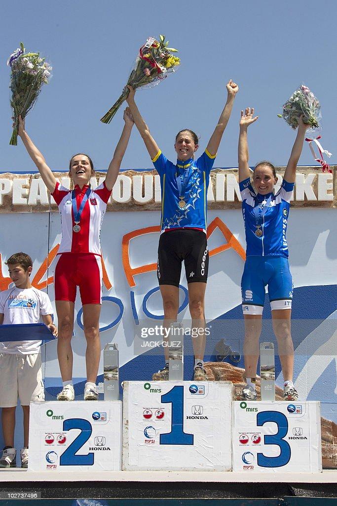 Switzerland s Katrin Leumann , Poland Maja Wloszcowska and