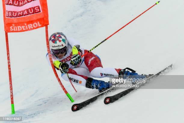 Switzerland's Marco Odermatt competes in the Men's Giant Slalom of the FIS Alpine World Cup on December 22, 2019 in Alta Badia, Dolomites.