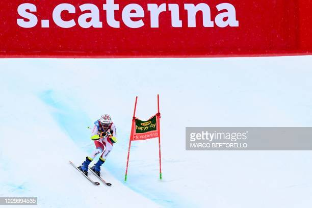 Switzerland's Marco Odermatt crosses the finish line of the second run to win the 3rd Men's Giant Slalom event of the FIS Alpine Ski World Cup, in...