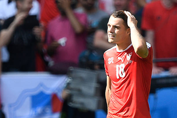 Granit Xhaka is the heart and soul of Switzerland's game. (MARTIN BUREAU/AFP/Getty Images)