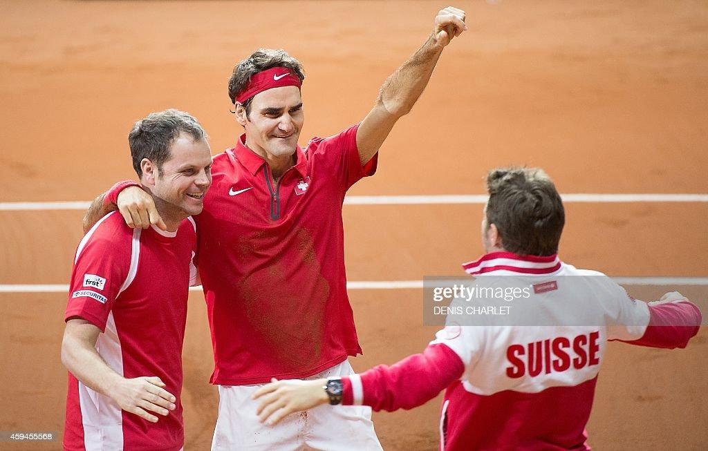 TENNIS-DAVIS-CUP-FRA-SUI : News Photo
