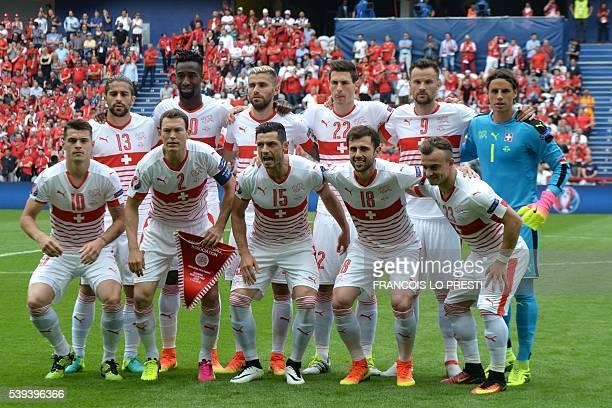 Switzerland's squad defender Ricardo Rodriguez defender Johan Djourou midfielder Valon Behrami defender Fabian Schaer forward Haris Seferovic...