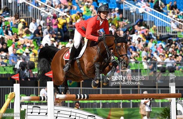 Switzerland's Steve Guerdat on Nino des Buissonets competes during the Equestrian's Show Jumping first qualifier event of the 2016 Rio Olympic Games...