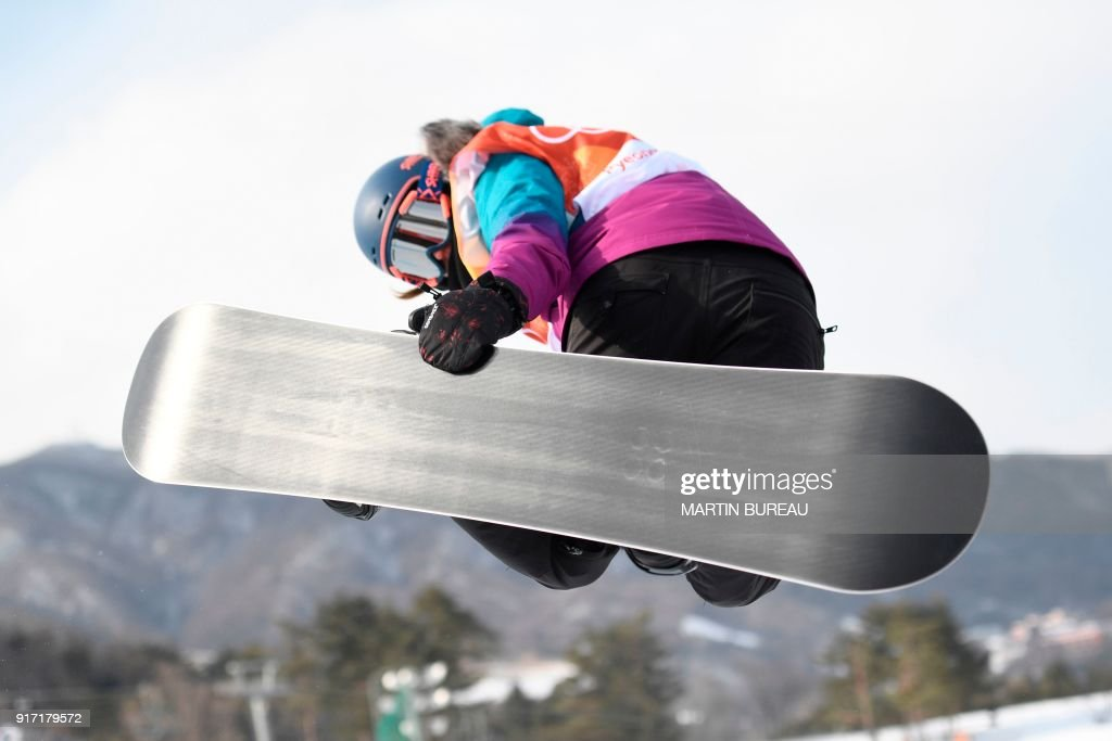 Switzerland's Verena Rohrer competes during qualification of the women's snowboard halfpipe at the Phoenix Park during the Pyeongchang 2018 Winter Olympic Games on February 12, 2018 in Pyeongchang. / AFP PHOTO / Martin BUREAU
