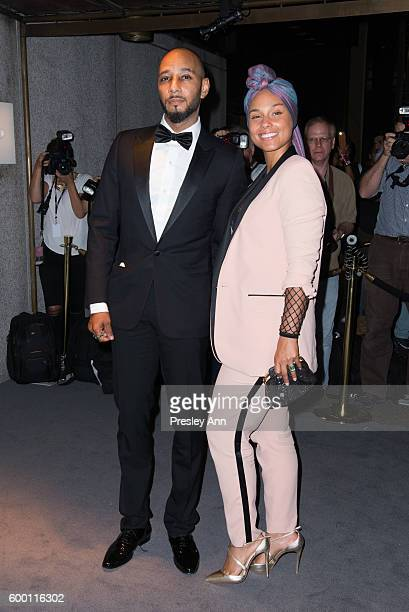 Swizz Beats and Alicia Keys attend Tom Ford fashion show during New York Fashion Week at 99 East 52nd Street on September 7 2016 in New York City