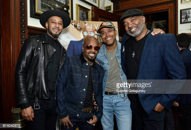 Swizz Beats Jermaine Dupri Maxwell and Michael Mauldin attend the Haute Living Honors Jermaine Dupri's Induction Into The Songwriters Hall Of Fame at...