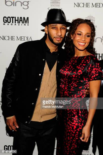Swizz Beatz and Alicia Keys attend ALICIA KEYS Hosts GOTHAM MAGAZINES Annual Gala Presented by BING at Capitale on March 15 2010 in New York City