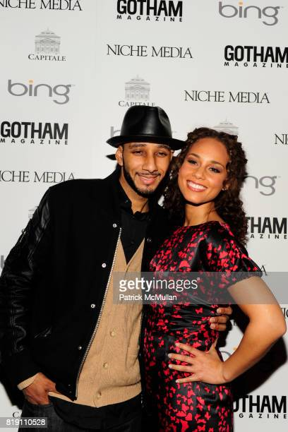 Swizz Beatz and Alicia Keys attend ALICIA KEYS Hosts GOTHAM MAGAZINES Annual Gala Presented by BING at Capitale on March 15, 2010 in New York City.
