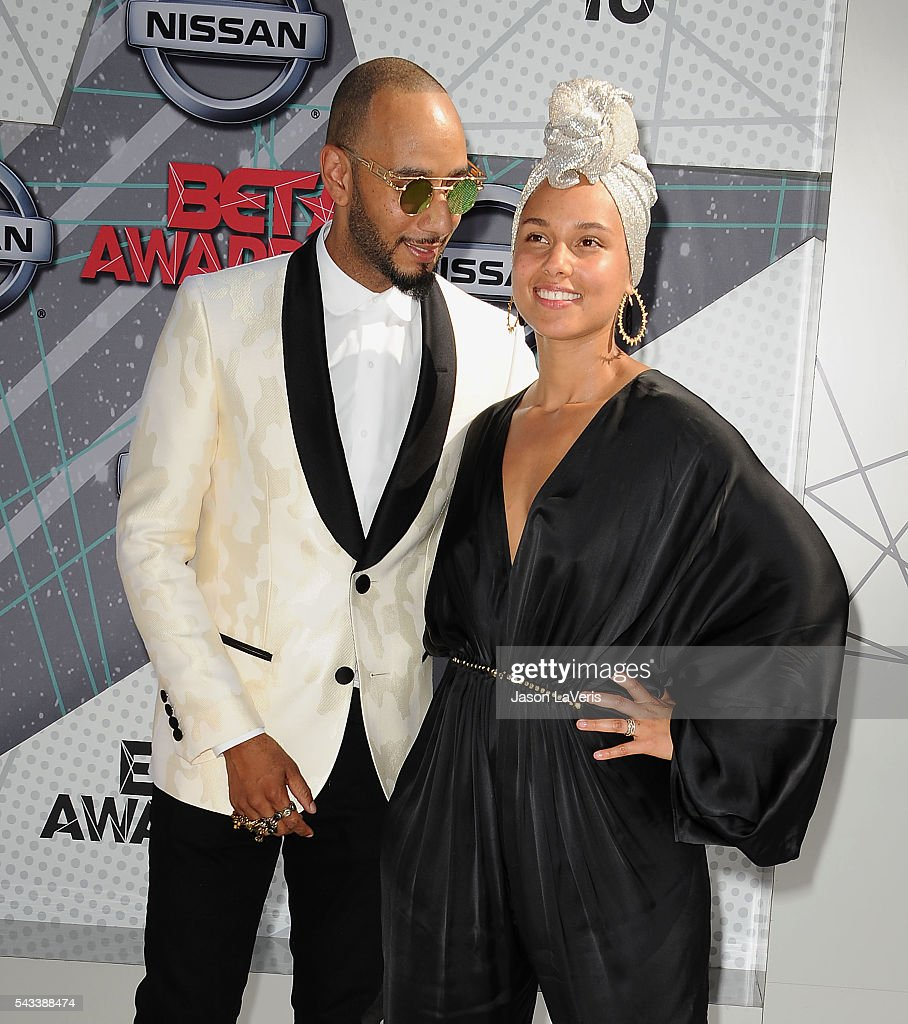 Swizz Beatz and Alicia Keys attend the 2016 BET Awards at Microsoft Theater on June 26, 2016 in Los Angeles, California.