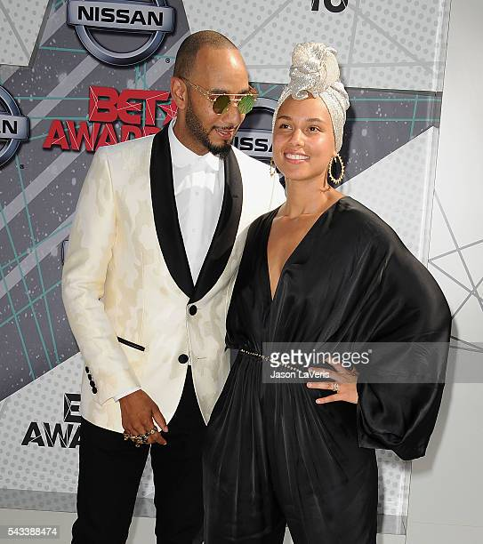 Swizz Beatz and Alicia Keys attend the 2016 BET Awards at Microsoft Theater on June 26 2016 in Los Angeles California