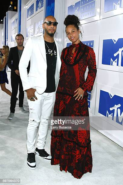 Swizz Beatz and Alicia Keys attend the 2016 MTV Video Music Awards at Madison Square Garden on August 28 2016 in New York City