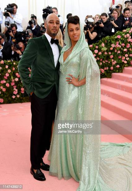 Swizz Beatz and Alicia Keys attend The 2019 Met Gala Celebrating Camp Notes on Fashion at Metropolitan Museum of Art on May 06 2019 in New York City