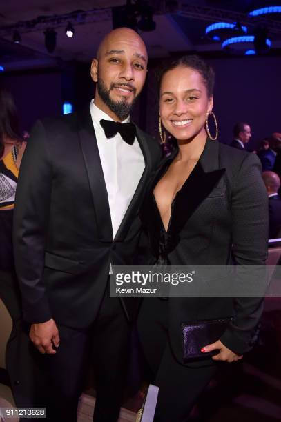 Swizz Beatz and Alicia Keys attend the Clive Davis and Recording Academy PreGRAMMY Gala and GRAMMY Salute to Industry Icons Honoring JayZ on January...