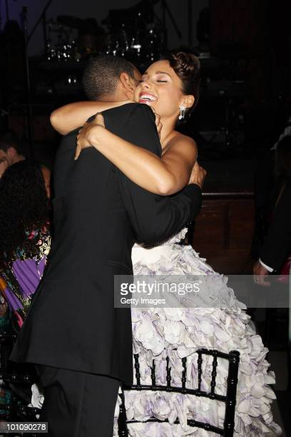 Swizz Beatz and Alicia Keys attend the Keep A Child Alive Black Ball at held at St John's Smith Square on May 27 2010 in London England