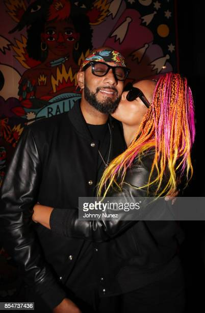 Swizz Beatz and Alicia Keys attend the Swizz Beatz BALLY Cocktail Collaboration Launch Celebration on September 26 2017 in New York City
