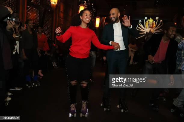 Swizz Beatz and Alicia Keys attends Alicia Keys Birthday Celebration at TAO on January 25 2018 in New York City