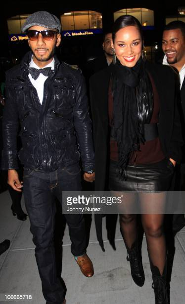 Swizz Beatz and Alicia Keys celebrate Swizz Beatz in the GQ November issue at Kastel at Trump Soho Hotel on November 9 2010 in New York City