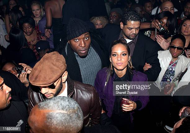 Swizz Beatz and Alicia Keys is seen at M2 Ultra Lounge on December 18 2009 in New York City