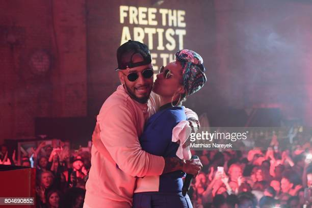 Swizz Beatz and Alicia Keys perform at Bacardi X The Dean Collection Present No Commission on June 30 2017 in Berlin Germany