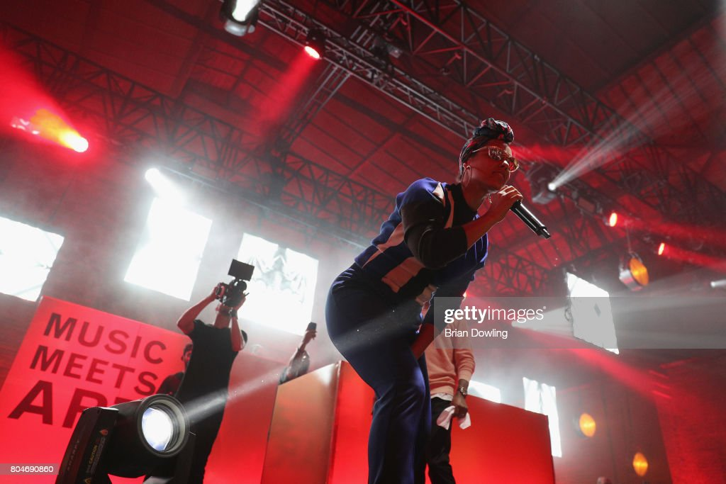 Swizz Beatz and Alicia Keys perform at Bacardi X The Dean Collection Present: No Commission on June 30, 2017 in Berlin, Germany.