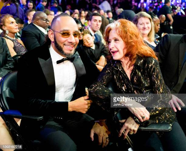 Swizz Beatz and Bonnie Raitt attend the 62nd Annual GRAMMY Awards on January 26, 2020 in Los Angeles, California.