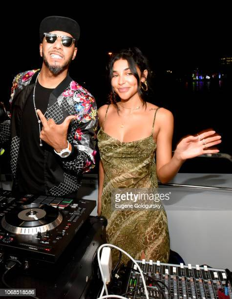 Swizz Beatz and Chantel Jeffries attend the Lumiere De Vie Resort event during Art Basel on December 4 2018 in Miami Beach FL