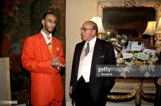 Swizz Beatz and Clive Davis during 2004 Clive Davis PreGrammy Party Inside Arrivals at Beverly Hills Hotel in Beverly Hills California United States