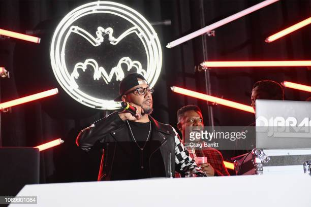 Swizz Beatz and Dj Nasty perform on stage at No Commission: Miami presented by BACARDÍ x The Dean Collection on December 7, 201 at Faena Forum on...