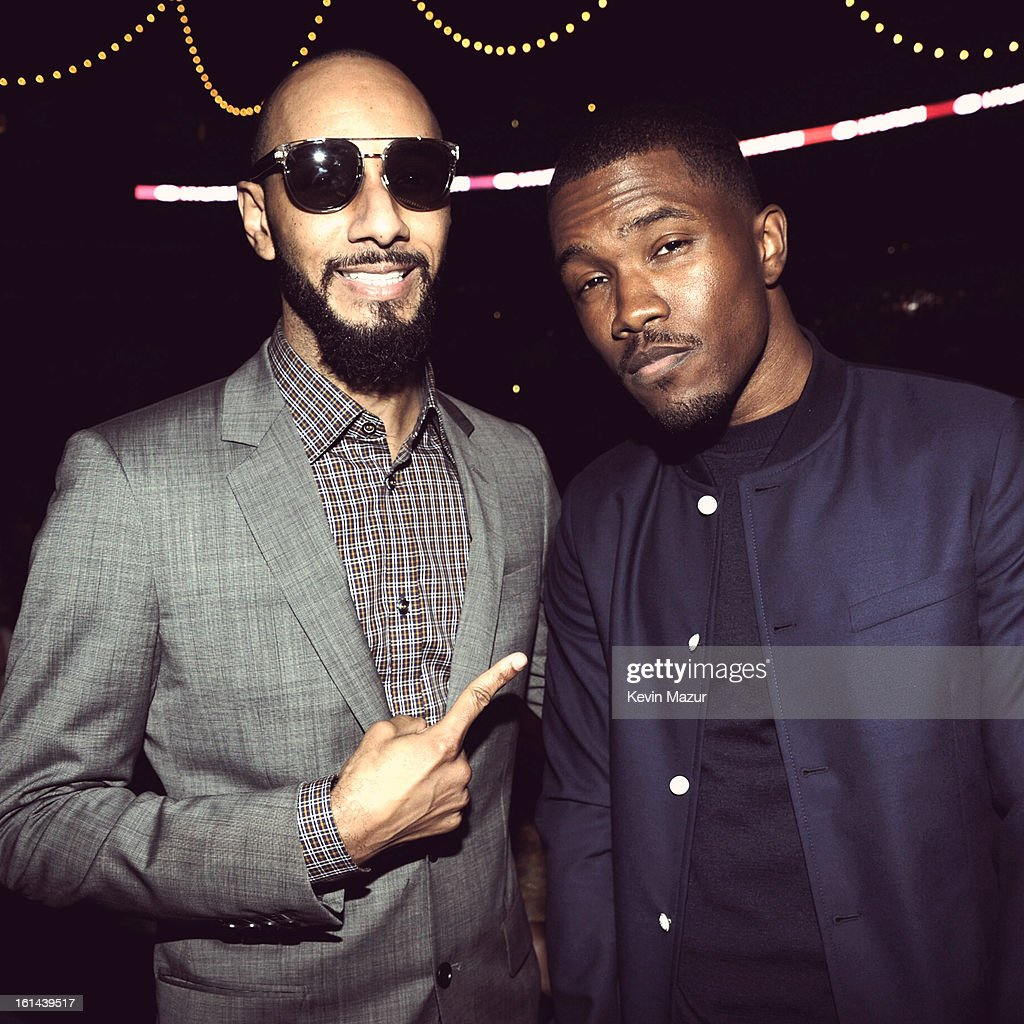 Swizz Beatz and Frank Ocean attend the 55th Annual GRAMMY Awards at STAPLES Center on February 10, 2013 in Los Angeles, California.
