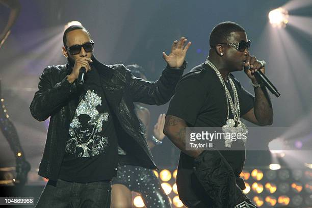 2ebe8800753 Swizz Beatz and Gucci Mane performs during the BET Hip Hop Awards  10 at  Boisfeuillet
