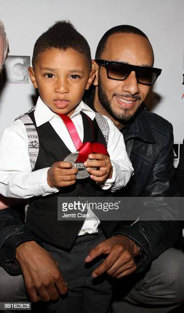 Swizz Beatz and his son Kasseem Dean, Jr. Pose for a photo at the 2010 SESAC New York Music Awards at the IAC Building on May 12, 2010 in New York...
