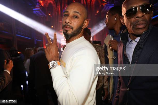 Swizz Beatz and Jabar attend the launch of The Defy Collection A Quantum Leap With Swizz Beatz on November 30 2017 in New York City
