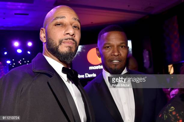 Swizz Beatz and Jamie Foxx attend the Clive Davis and Recording Academy PreGRAMMY Gala and GRAMMY Salute to Industry Icons Honoring JayZ on January...