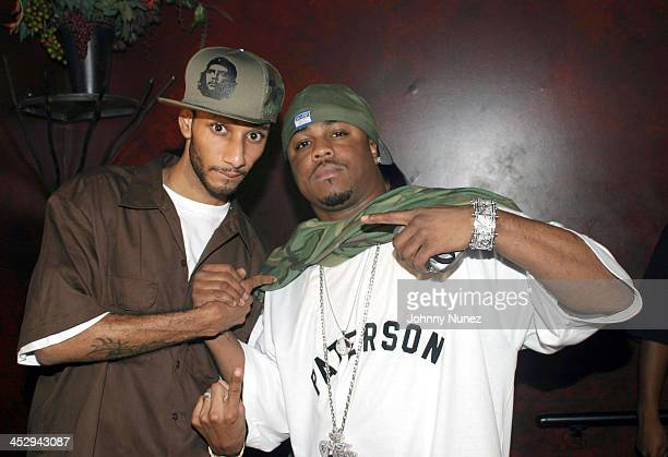Swizz Beatz and Just Blaze during Rah Digga's Party And Bullshit Video Shoot at Diva Lounge in Montclair New Jersey United States