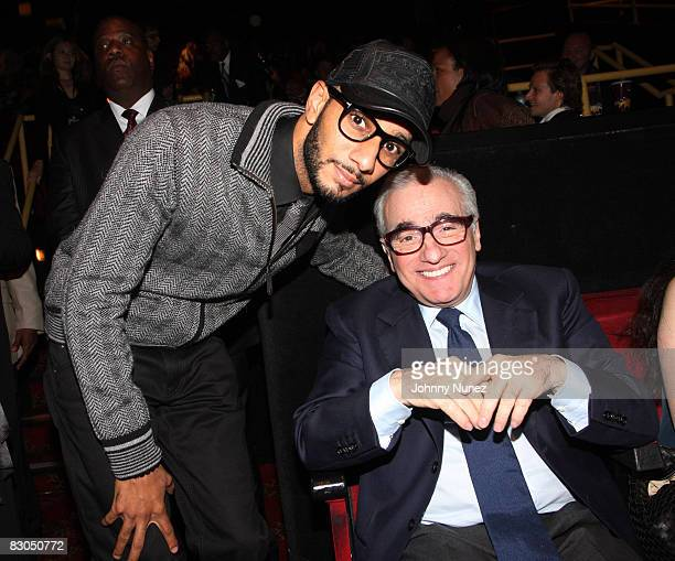 Swizz Beatz and Martin Scorsese attend the premiere of Miracle at St Anna at the Ziegfeld Theatre on September 22 2008 in New York City