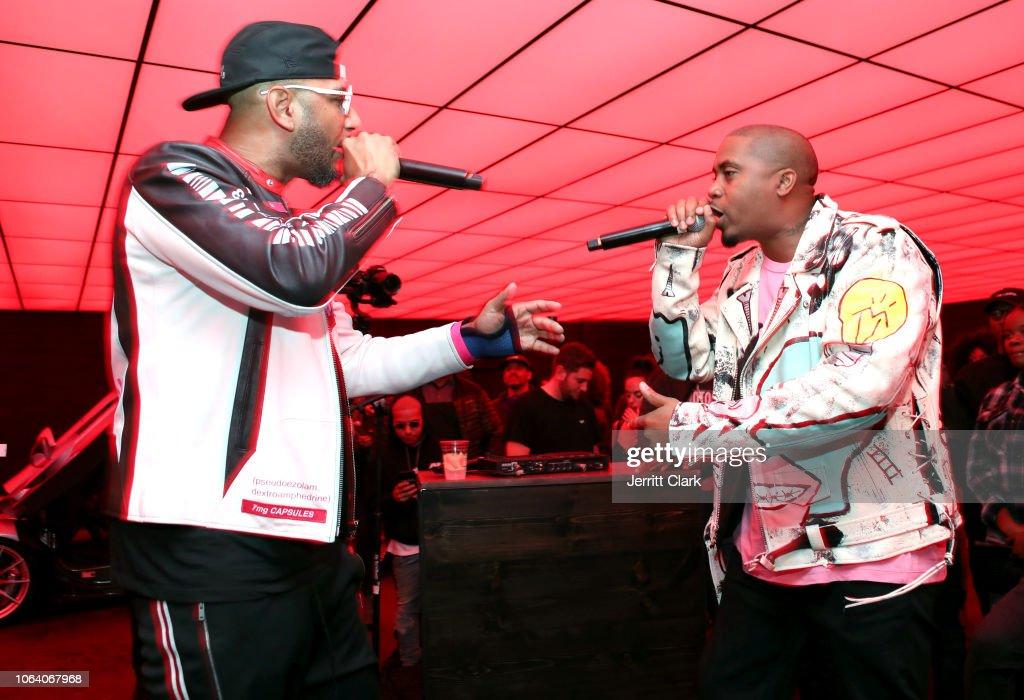 Swizz Beatz and Nas perform at Swizz Beatz