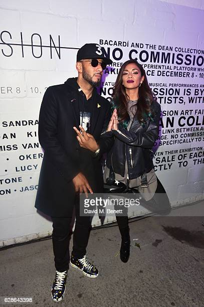 Swizz Beatz and Nicole Scherzinger attend The Dean Collection X Bacardi Present No Commission London on December 8 2016 in London England