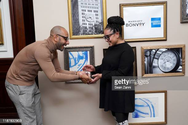 Swizz Beatz and the Marriott Bonvoy™ American Express® Credit Card portfolio Celebrate Joeonna BelloradoSamuels at the Women in Art on November 14...