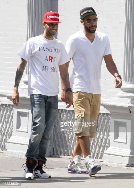 Swizz Beatz and Thierry Henry seen walking in SoHo on June 7 2011 in New York City